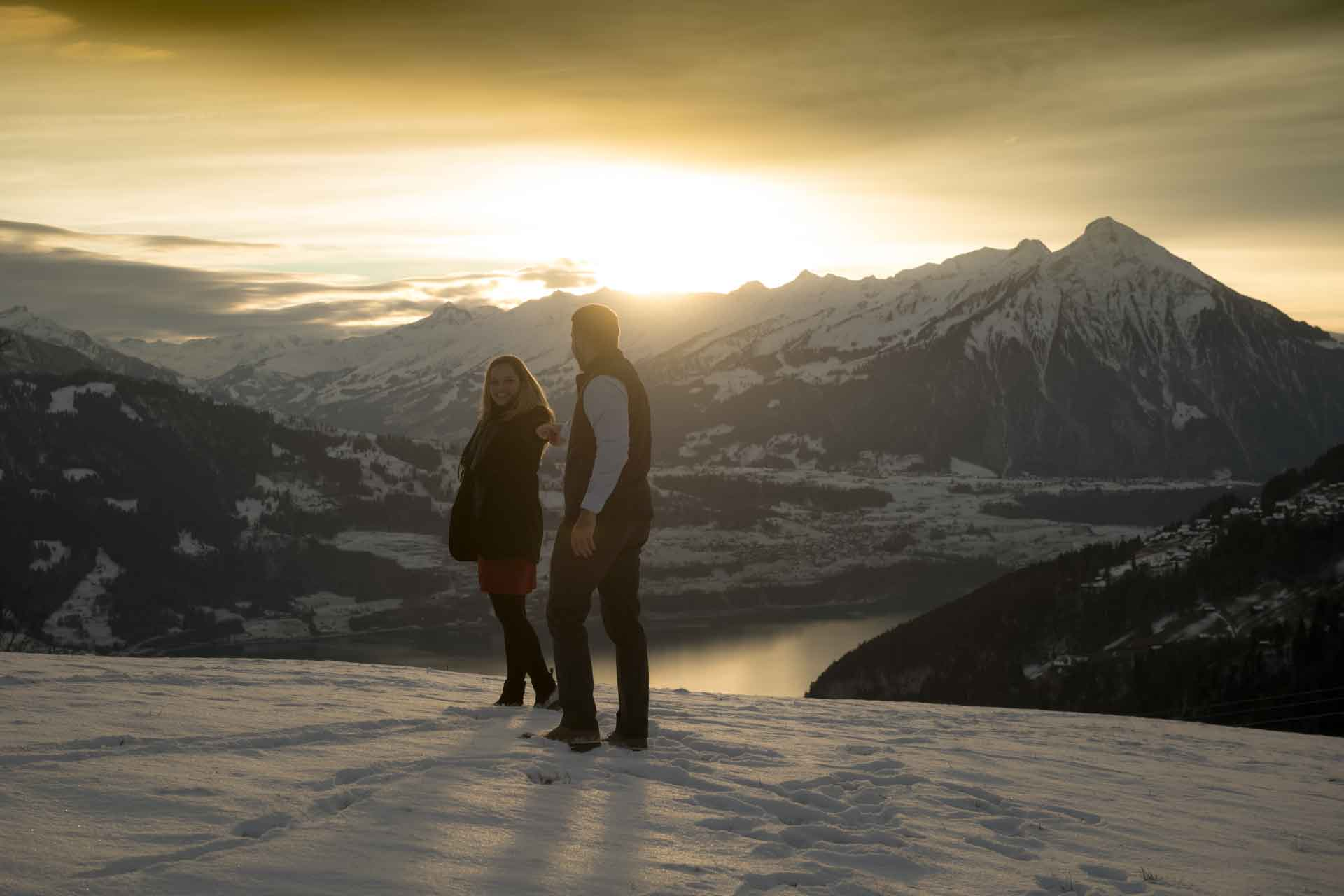 Romantic photo shoot in the Swiss Alps